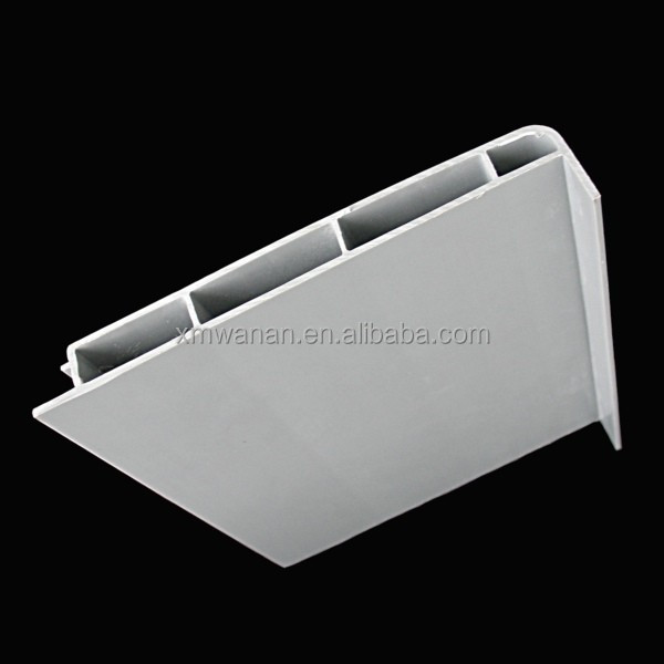 Light Gray color building material Extruded Plastic PVC Profile