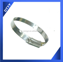 Factory supply stainless steel 9mm bandwidth 105-127mm SS201 British Type fabric flat garden hose clamp