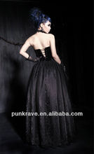 Western punk gothic zuhair murad evening dresses/full dress made in china Q-184