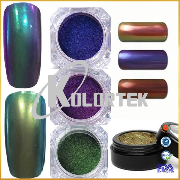 High quality colour changing chrome nails powder chameleon effect mirror powder for nail art