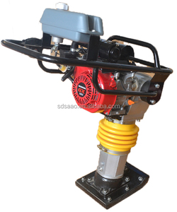 Low noise vibrator shocking rammer electric jumping jack compactor