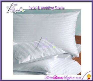 hotel pillow cases, pillow covers, white pillow cases in stripe-wholesale price