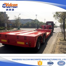 Export Japan 100 ton lifting axle lowboy trailer for sale