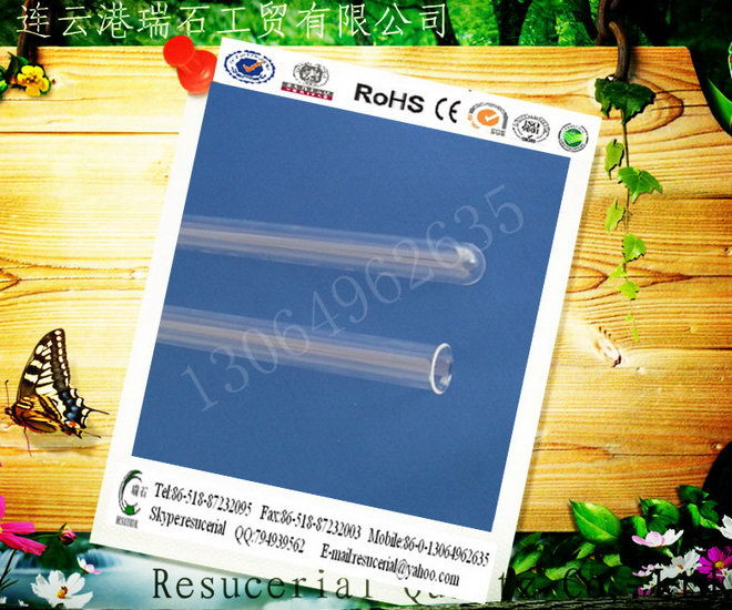 Large Diameter Quartz Glass Tube quartz tube with SGS Rohs Certificate