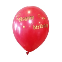 Party Decoration Latex Helium Happy Birthday Balloon with Stickers