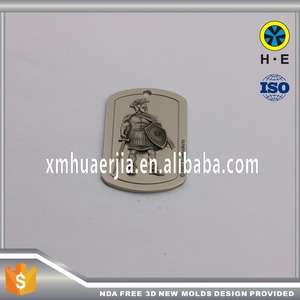 Knight statues garment hang tags OEM 3D tags designs for custom garment tag