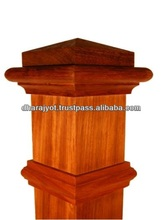 Red Wood Pillar Design