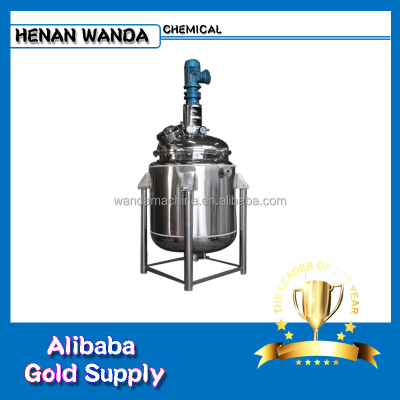 1000L chemical mixing reactors / stainless steel jacket heating reactor vessel