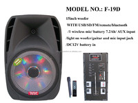 led nice lead acid mp3 wma input battery speaker with usb,sd,fm,eq subwoofer,built-in amplifier(F-19D)