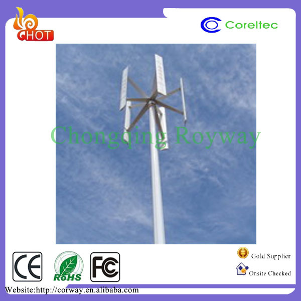 5KW Low RPM Vertical axis Wind-solar hybrid power system Vertical wind turbine