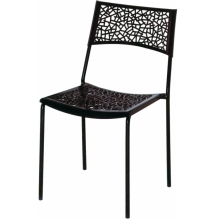 Restaurant Stackable Metal Leg Plastic Dining Chair