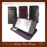 High-End Handmade Classic Design Pu Custom Cell Phone Cases
