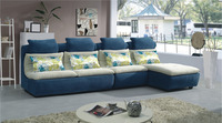 Living room solid wood new model simple wooden fabric sofa set design