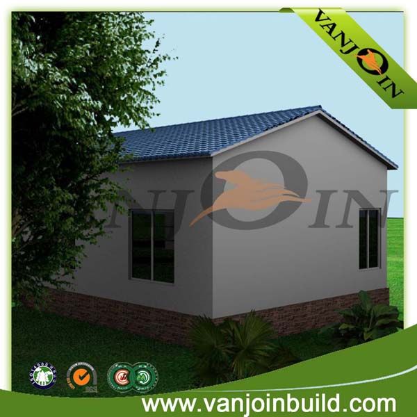Turnkey small solar prefab brick steel structure house china