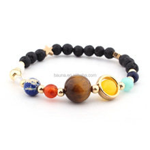 2018 Hot Sale Yoga Buddha Bracelet Fashion Nine planets Men's Beads Bracelet
