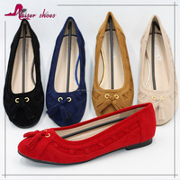 wholesale women elegant flat ladies dress wedge shoes leather cheap casual shoes