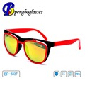 custom logo clamshell sunglasses with UV400