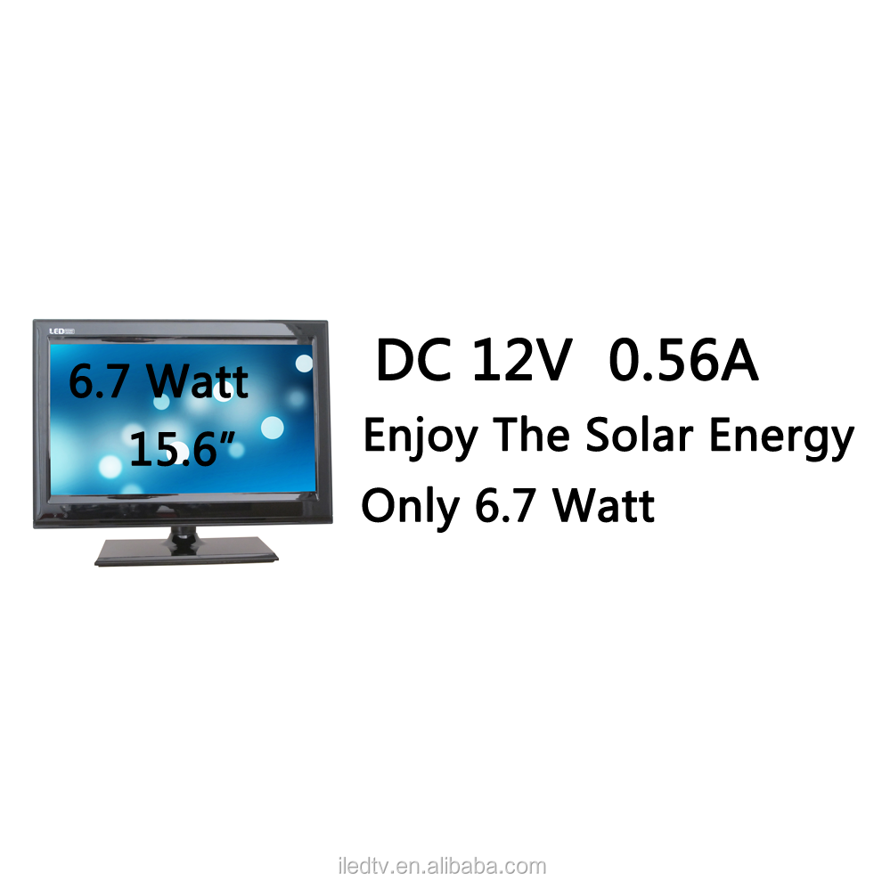 15.6 inch led tv,6.7 watt solar tv,Low power consumption,