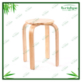 Modern new design rubber wood round stool,adult bath seat