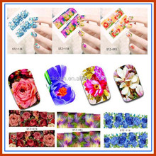 50 Sheets Nail Art Sticker Flower Water Sticker Nails Beauty Wraps Foil Polish Decals Temporary Tattoos DIY Decorations Nail Art