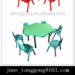 Kindergarten Furniture Plastic kids Table And Chairs Children study table
