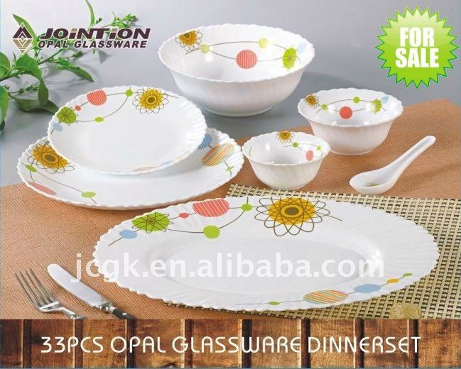 Heat-resistance opal glass dinnerware 33pcs