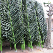 2.4M artificial palm tree leaf artificial date palm tree decorative branches plastic