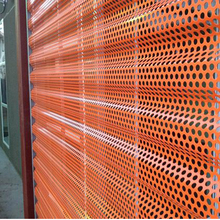 Ventilation perforated aluminum corrugated metal panels for screen walls cladding