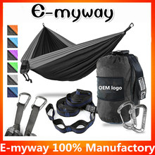 E-myway durable parachute 210T nylon ultralight outdoor portable camping double hammock