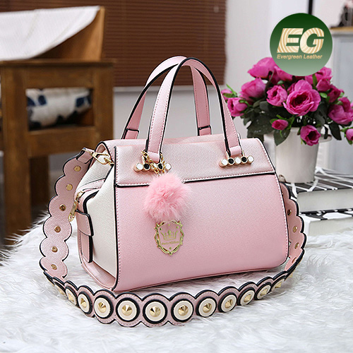 OEM Ladies handbags Manufactuer in Guangzhou designer bags Color Collision Tote Bags with circle straps SY8490