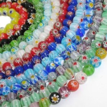 Wholesale chevron bead treasures glass beads colorful in bulk