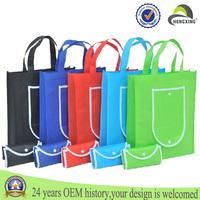 custom handbags made pp Non woven fabric shopping Blank punching bags wholesale