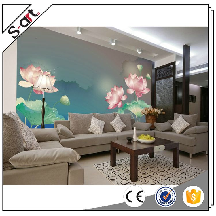Famous artists competitive 3d flower wall mural for door