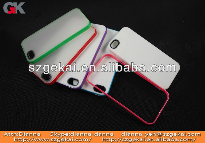 Bumper Case for iPhone5 Bumper with chrome buttons for volume and power