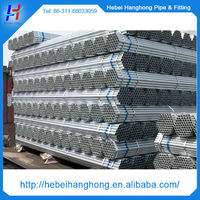 Trade Assurance Supplier 2 inch BS1387 hot dip gi pipe, galvanized pipe , galvanized steel pipe
