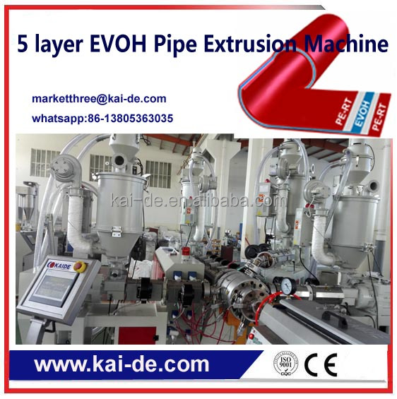 5 layer PERT Pipe with EVOH Oxygen Barrier Extrusion machine/5 Layer pipe co-extrusion machi