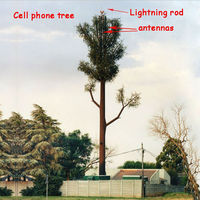 fake pine tree for radio and cellular transmissions