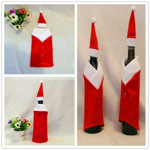 Plush Wine bottle cover christmas wine bottle cover wine bottle decoration