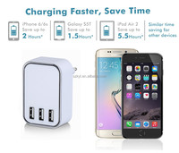 Mobile phone accessories 3 port usb charger 5V4.5A wall USB charger for iPhone iPad Samsung Galaxy s6