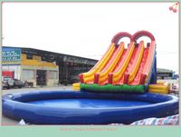 High quality giant outdoor inflatable water slide