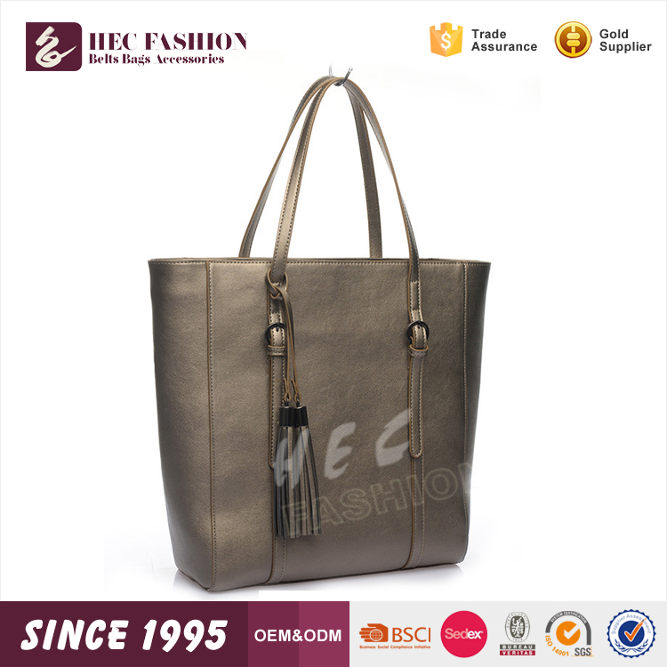 HEC Fast Delivery Wenzhou Supplier Wholesale Metallic Pu Leather Material Retro Handbags