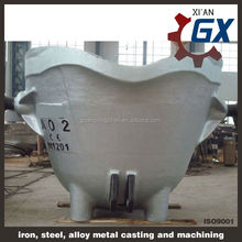 Large bottom pouring stopper ladle/ bottom pouring ladle for doundry