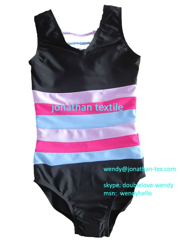 V Neck Colorful Striped Tank Leotards--to be a funny little bee in gym!