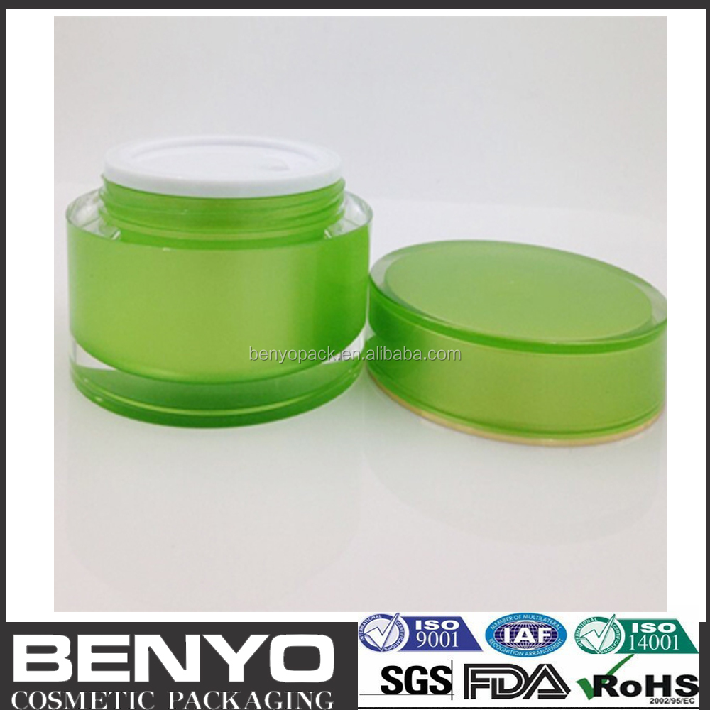 hot sale round shape acrylic jar for cosmetic packaging cosmetic crystal jar 50 ml