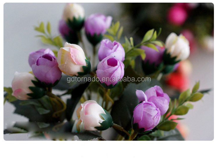 Artificial silk mini star rose flower bouquet table wedding decoration artificial flowers