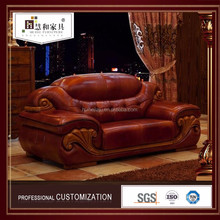 Custom Chesterfield Red Leather Sofa ,Genuine Leather Trend Sofa
