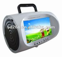 "Exclusive 7"" inch portable dvd Player Lower Price With AV tv tuner and radio FM USB mp3 mp4 game"