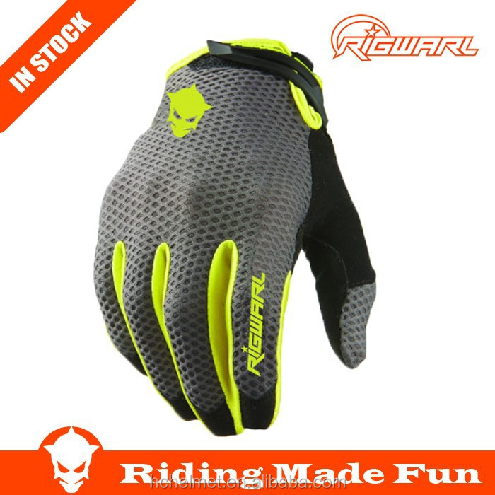RIGWARL New Bicycle & Auto Racing Sportswear Black Crochet Cycling Gloves With OEM Service