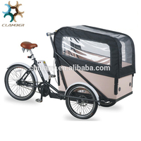 UB9036E Electric cargo bike bicycle with mid-motor/three wheel electric bike tricycle for adults