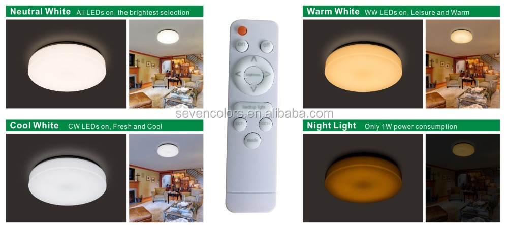 dimmable led ceiling lamp color temperature changable 100w ceiling light